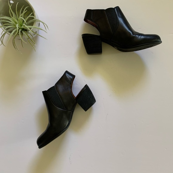 Lucky Brand Black Leather Booties.
